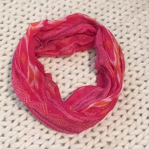 Accessories - Pink and orange infinity fashion scarf